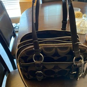 Authentic chocolate brown coach bag purse